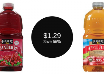 Langers Juice 64 oz. Only $1.29 (Save 66%)