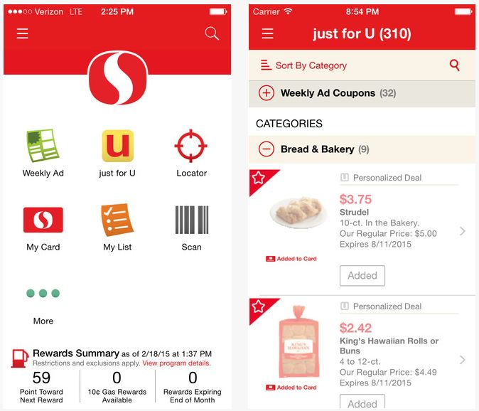 Safeway just for u digital coupons