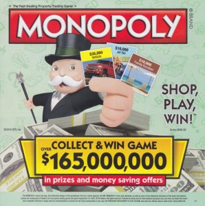 play monopoly safeway rare game piece list