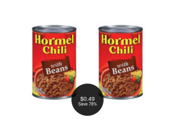 Hormel Chili Coupon, Pay as Low as $.49 at Safeway