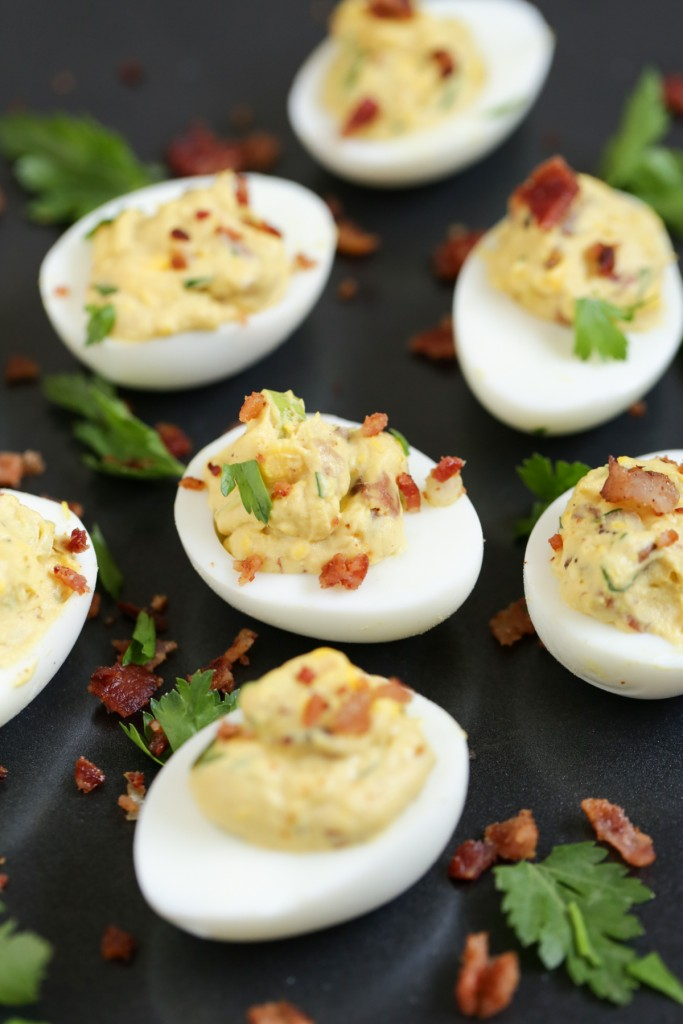 Bacon Deviled Eggs by Live Simply