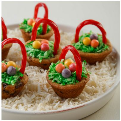 Chcocolate chip Easter baskets