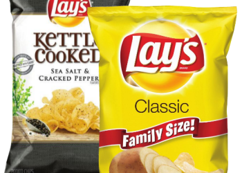 Lay's Chips – $.99 for Family Size and Kettle Cooked, Save 77%