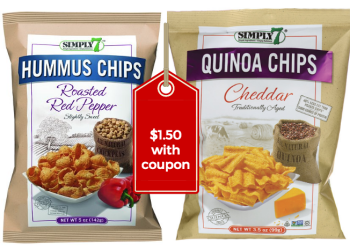 Simply 7 Hummus Chips or Quinoa Chips Just $1.50 at Safeway