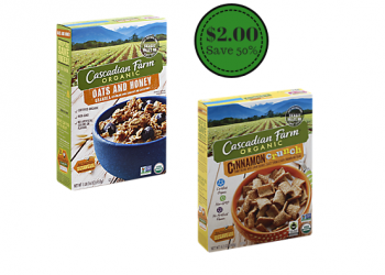 Cascadian Farm Organic Cereal and Granola Coupon and Sale – Pay Just $2.00
