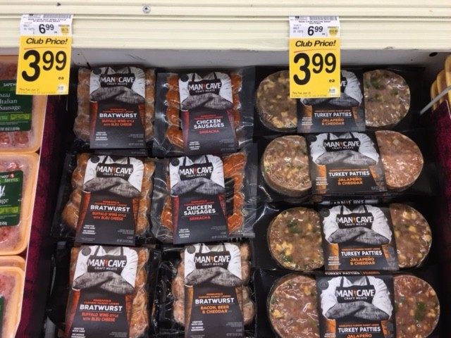 Man Cave Craft Eats Bacon : Man cave meats save on craft sausage and burgers