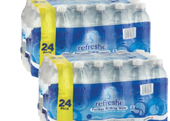 refreshe Water Coupon, Pay as Low as $1.49 for a 24 Pack ($0.06 Per Bottle)