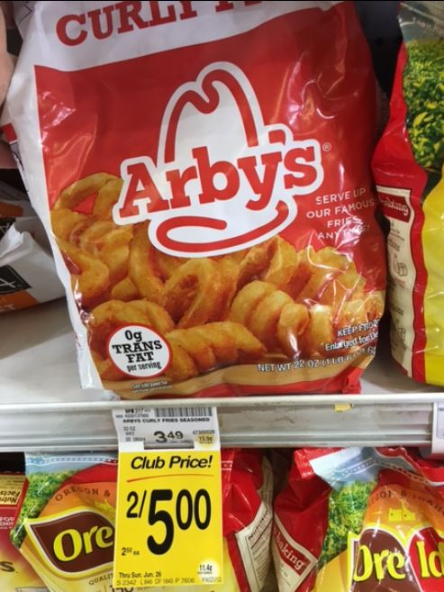 Arbys Curly Fries Just 150 With Sale And Coupon