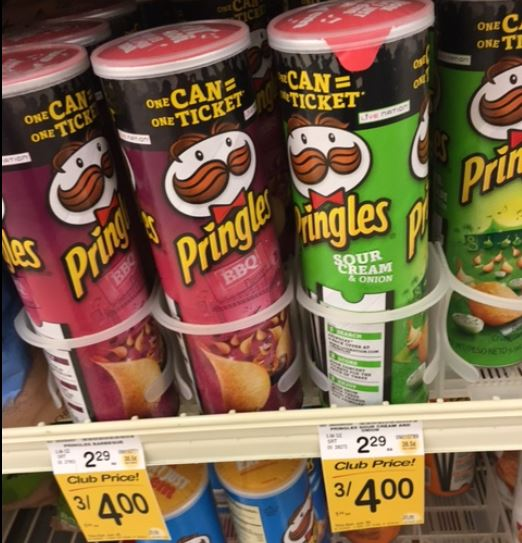 Pringles Chips Just .83 at Safeway with sale and coupon