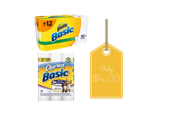 Bounty and Charmin Coupons, Pay $4.00