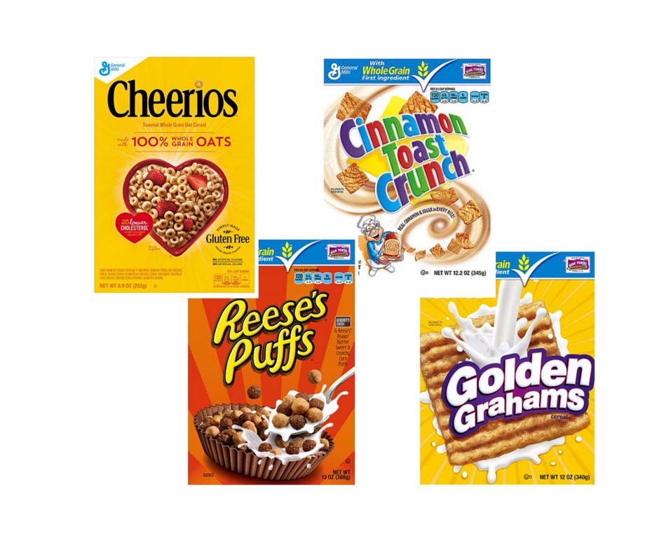 General Mills Cereal Coupons, Pay as low as $1.25