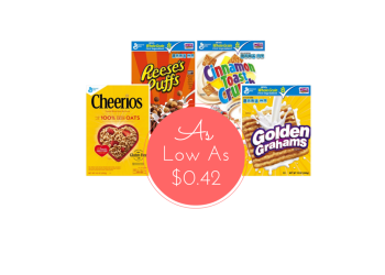 General Mills Cereal Coupons, Pay as Low as $0.42