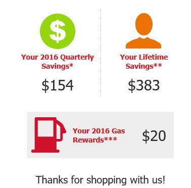 just for u savings summary