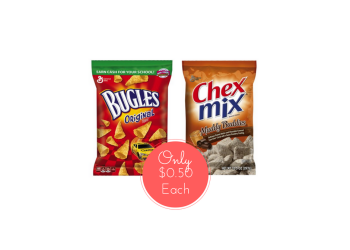 Bugles and Chex Mix Coupon, Pay $0.50