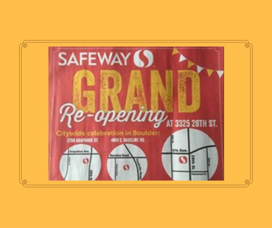 Safeway Grand Re-Opening in Boulder