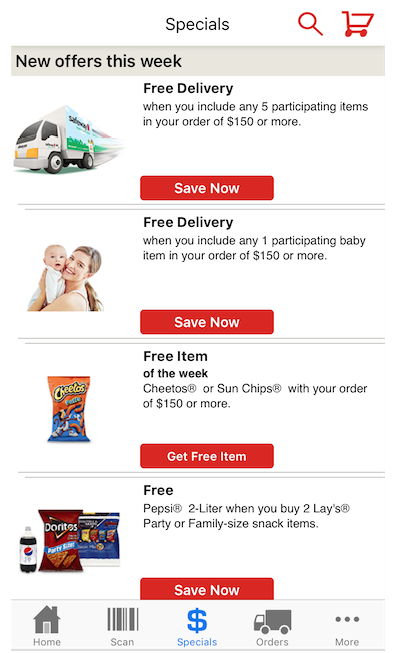 safeway grocery delivery promos