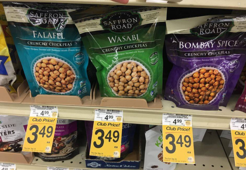 Saffron Road Coupon, Pay as Low as $1.99 for Crunchy Chickpeas