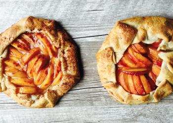 Peach Galette Recipe using Palisades Peaches for National Peach Pie Day