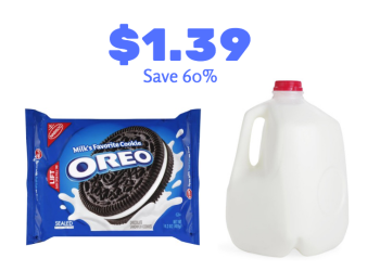 New Nabisco Cookies and Milk Coupon, Get Oreos and Milk for $1.39
