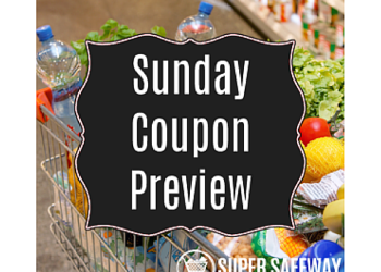 Sunday Coupon Preview - 4 Inserts