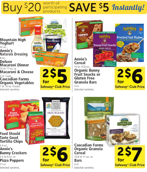 Natural & Organic Promotion Through 9/20 - Buy $20, Save $5 - Super
