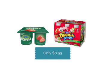 Dannon Coupons, Pay $0.99 for Multi-Pack Yogurt