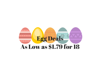 Egg Deals, Pay as Low as $1.79 for 18 Eggs