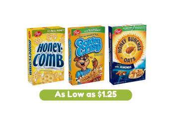 Post Cereal Coupons, Pay as Low as $1.25