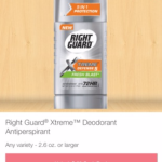 FREE Right Guard Xtreme - Up to a $0.25 MONEYMAKER