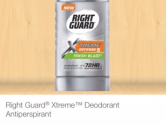 FREE Right Guard Xtreme – Up to a $0.25 MONEYMAKER