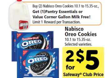 Oreo Coupons – Pay $0.92 Per Package and Get FREE Milk