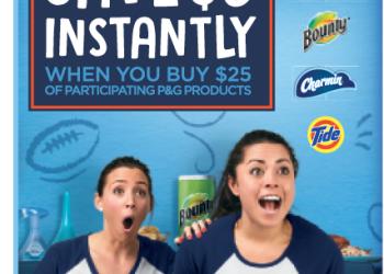 P&G $5 Instant Savings Promo