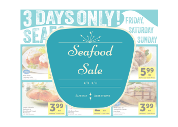 Albertsons and Safeway Seafood Sale – Friday Through Sunday