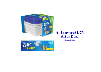 Ziploc Catalina and Coupon, Pay as Low as $1.75