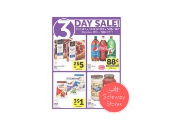 Safeway Three Day Sale 10/28 - 10/30