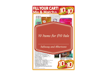 10 Items for $10 Sale at Safeway and Albertsons