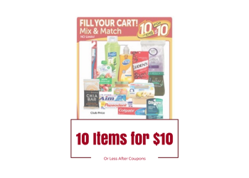 Safeway 10 Items for $10 Sale