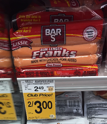 Bar s meat franks coupons