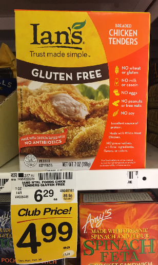 Ian's Coupon, Pay $2.99 for Gluten Free Chicken Tenders