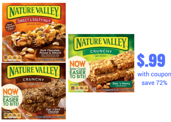Nature Valley and Fiber One Bars Just $.99 at Safeway with Sale and Coupon