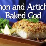 Lemon and Artichoke Baked Cod