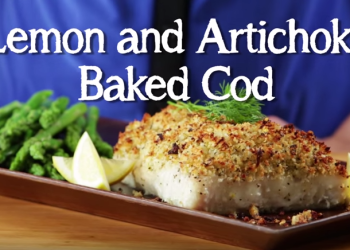 Lamon and Artichoke Baked Cod