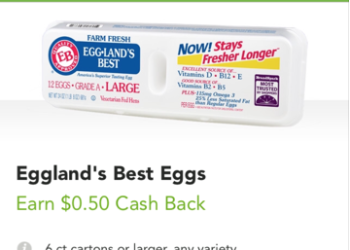 Eggland's Best Eggs Coupons and Sale, Pay as Low as $1.00