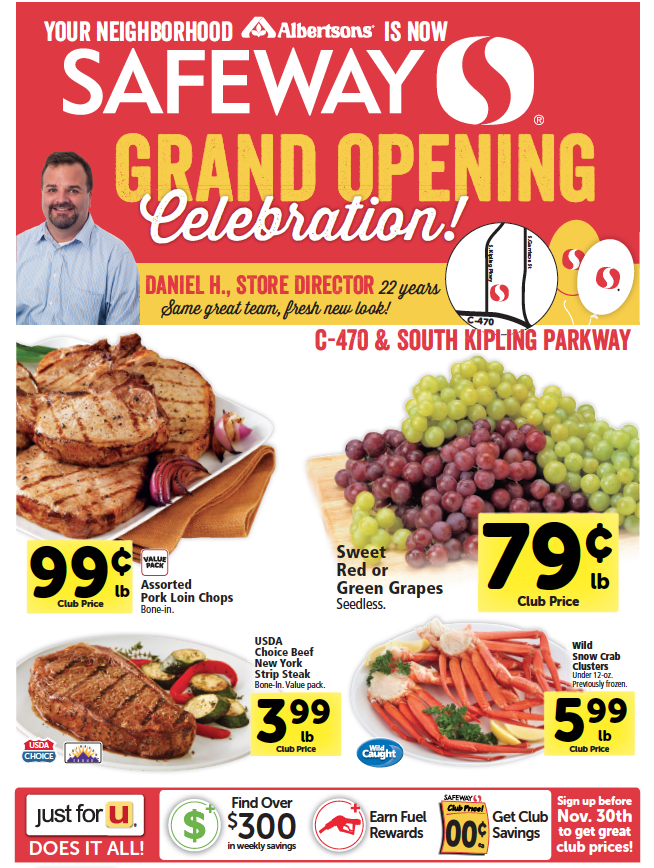 grand opening specials continue for 8 new safeway stores
