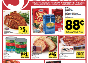 HOT 3 Day Sale at Safeway  11/4 – 11/6