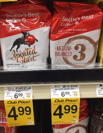 Seattle's Best Coffee Coupon, Pay as Low as $2.49