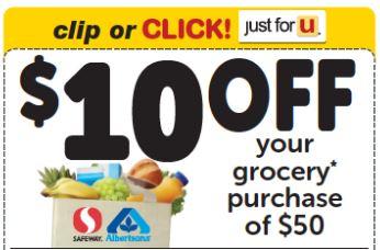 10 off 50 Safeway coupon
