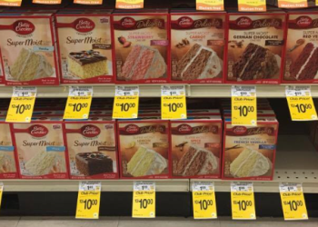 Betty Crocker Cake Mix $.66 and Frosting $.92 with Coupon