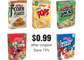 Kellogg's Cereal Coupons, Pay as Low as $0.99