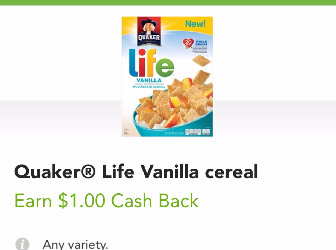 Quaker Cereal Sale – as Low as $0.88